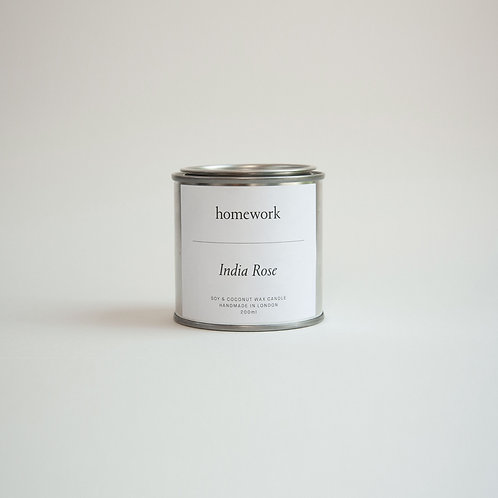 Homework - India Rose Soy & Coconut Candle
