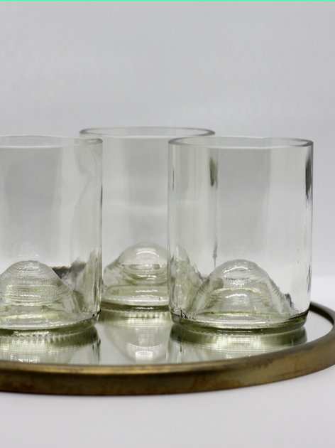 UPCYCLED GLASSWARE FROM WASTE BOTTLES