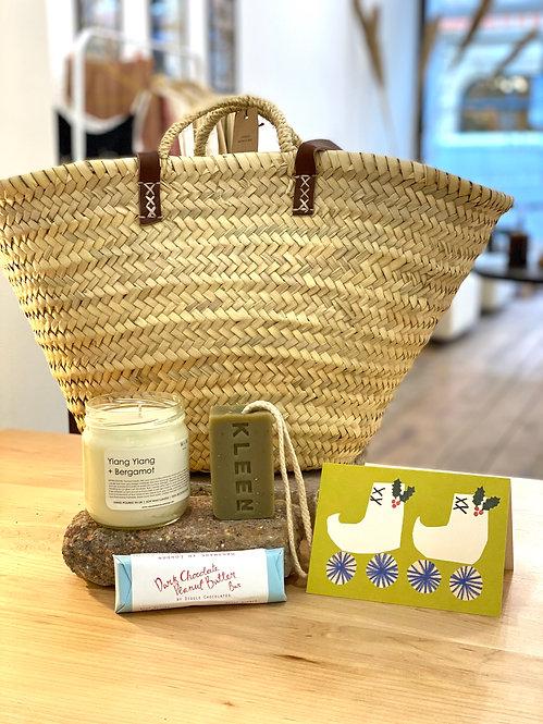 Sustainable Lifestyle Reusable Basket Gift Set - Skate, Smell + Choc