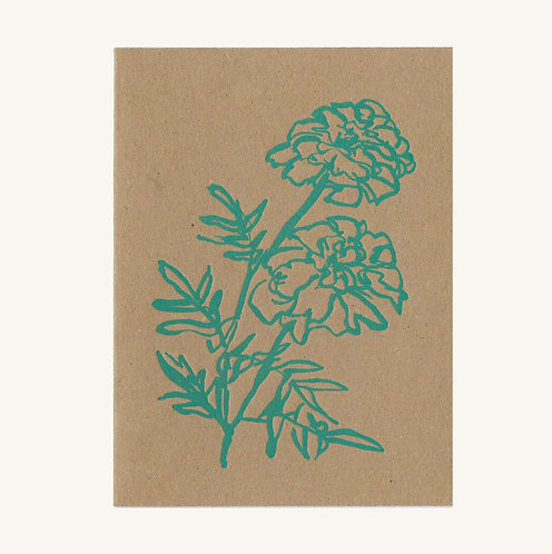 Lucy Augé - Letterpress Greeting Card - Marigold