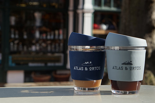 Atlas & Ortus - Reusable Glass Coffee Cup