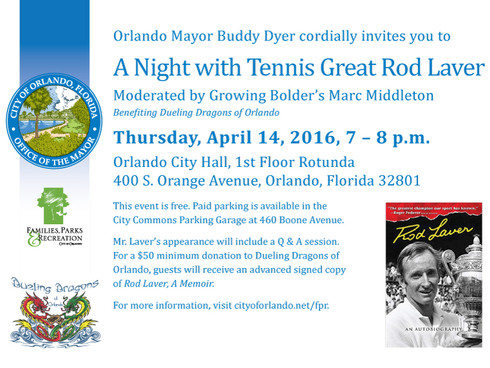 Legendary Rod Laver Comes to Orlando April 14th!
