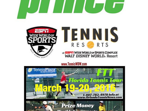 Doubles & Singles Draw for Florida Tennis Tour at Disney ESPN Wide World of Sports