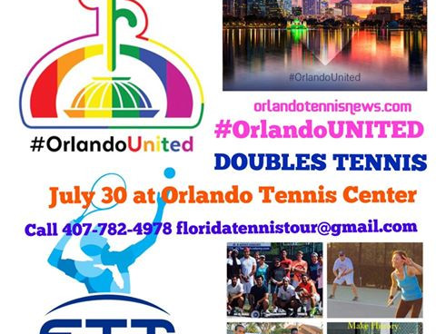 #OrlandoUnited Doubles Tennis Charity Tourny July 30th