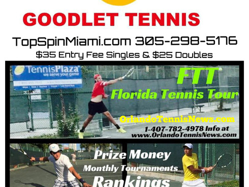 We Going MIAMI! The Florida Tennis Tour April 23-24 !! AND $10,000 USTA Futures Wild Card & $1,0