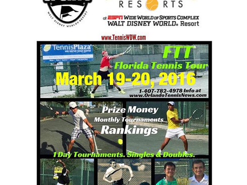 Florida Tennis Tour Partners with Tennis Resorts at ESPN Wide World of Sports Complex