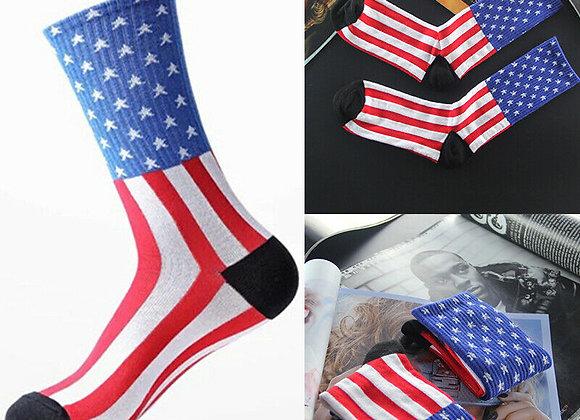American Flag USA Stars & Stripes Cotton Sock Old Glory Casual