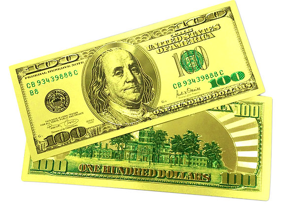 $100 GOLD Foil Bank Note Collectible
