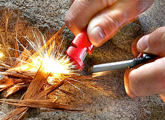 Tungsten Carbide Knife Sharpener and Fire Starter by Sharpens Best