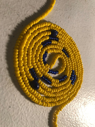 Yellow & Blue -small beads