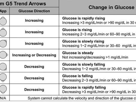 Predicting the future (use of CGM trend arrows)