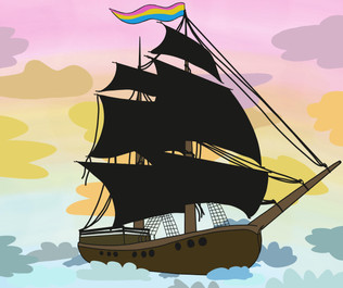 Ich bin queer // Illustration for column // 2020