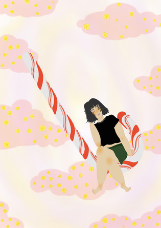 // Sugar baby // Illustration for column // 2020