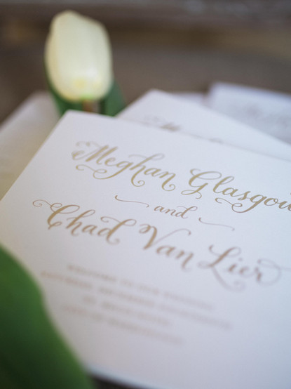 Wedding Calligraphy with computer fonts