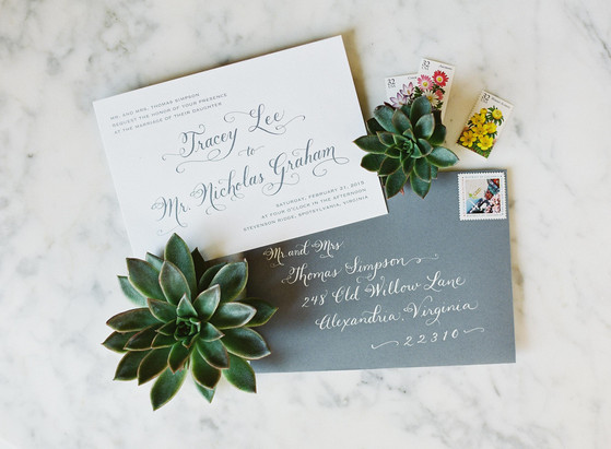 Invitation and Envelope Calligraphy