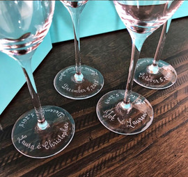 Engraved Tiffany Toasting Flutes