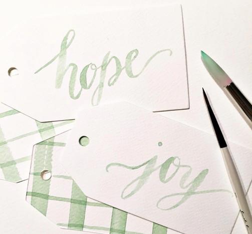 Watercolor brush lettering