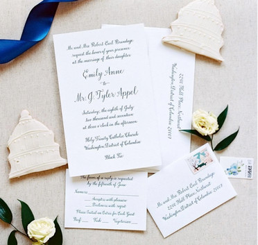 Invitation Suite with Hand calligraphy and Letterpress