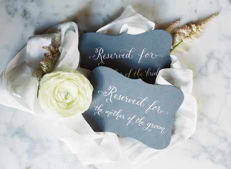 Reserved for the mother of the bride sign