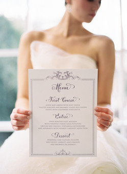 Extra Large Wedding Menu