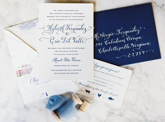 Wedding Invitation and Envelope Addressing Calligraphy