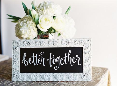 Better Together Wedding Sign