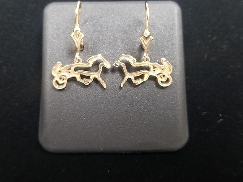 14kt Yellow Gold Sulky Dangle Earrings