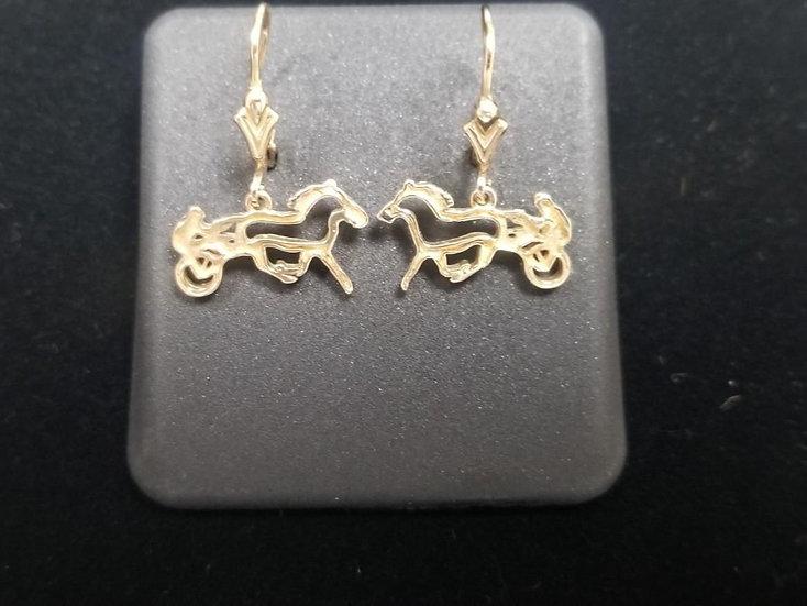 14kt Yellow Gold Sulky Dangle Earrings