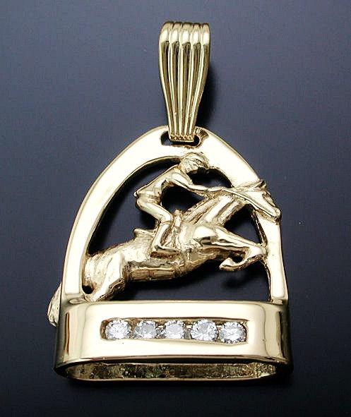 Diamond Gold Jumper Pendant