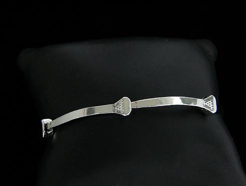 Sterling Silver Horseshoe Nail Bracelet