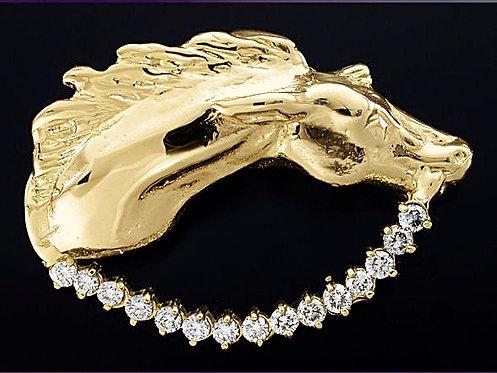 Horse with Diamond Rope Pendant