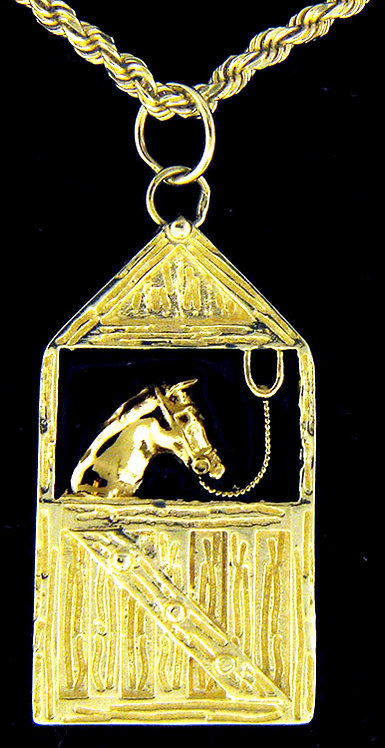 14kt Yellow Gold Horse Pendant