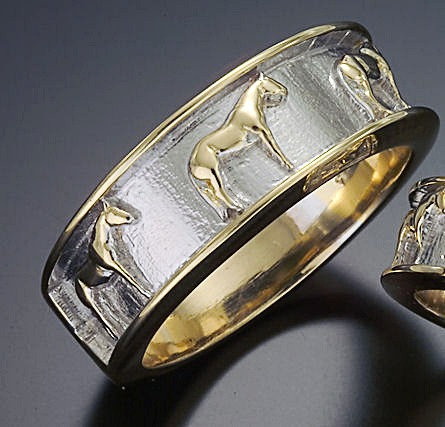 Quarter Horse Band Ring for Men