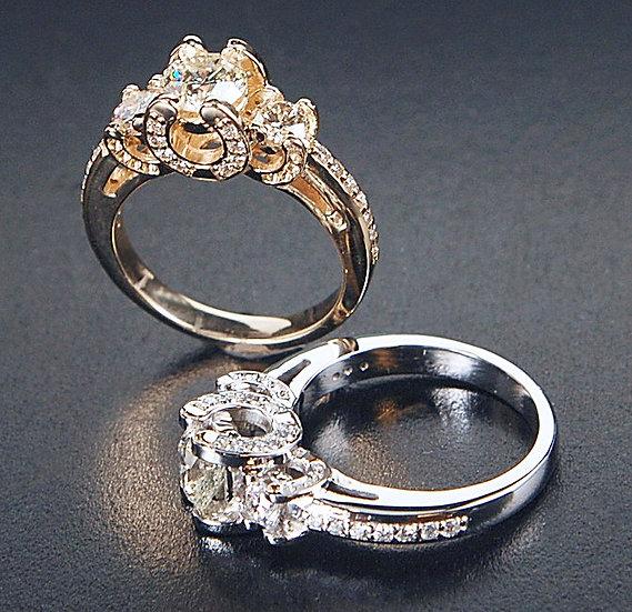 Horseshoe Engagement Ring