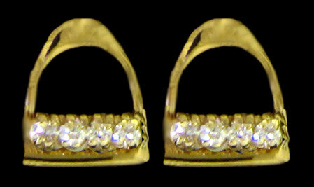 14kt Gold Stirrup Post Earrings