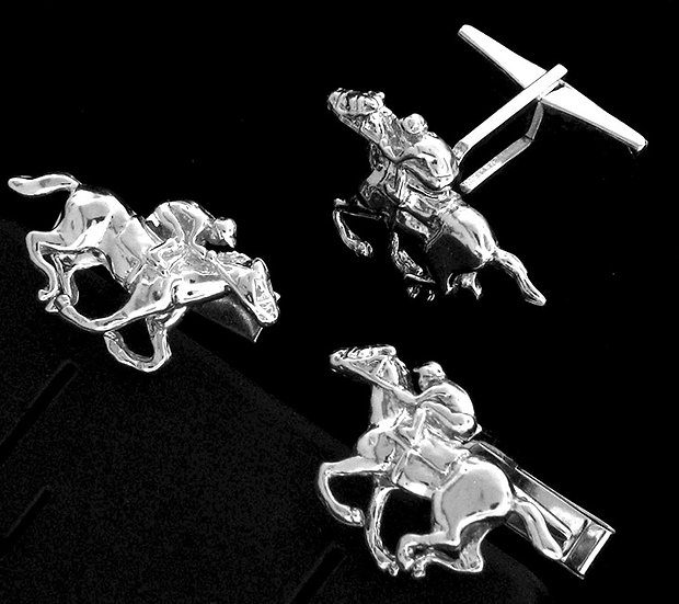 Sterling Silver Thoroughbred Cufflinks