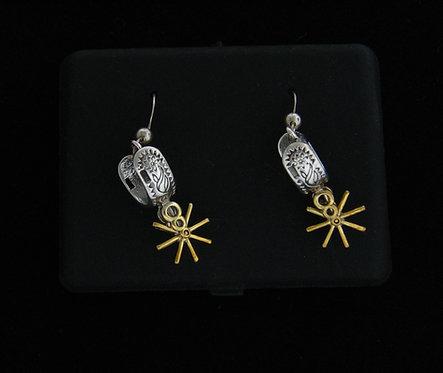 Sterling Silver Spur Dangle Earrings