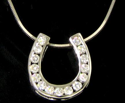 14kt White Gold Diamond Horseshoe