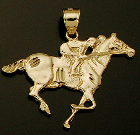 Gold Thoroughbred Pendant