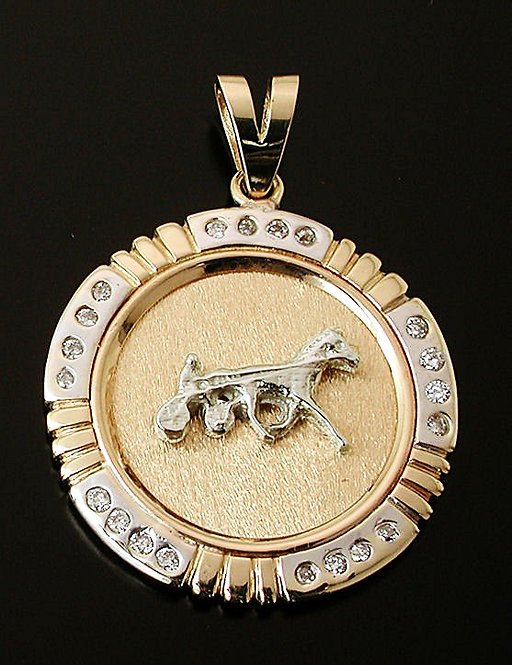Standardbred Two Tone Gold Coin with Diamonds