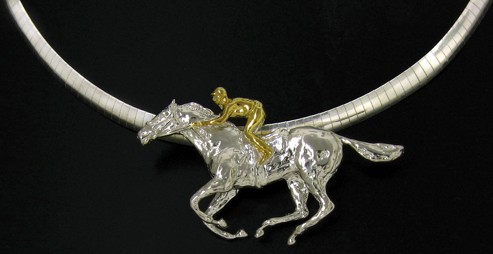 Sterling Silver Thoroughbred Pendant