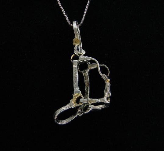Sterling Silver Antique Finished Halter Pendant