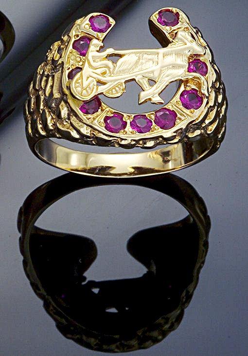 Standardbred Gold Rubie Ring