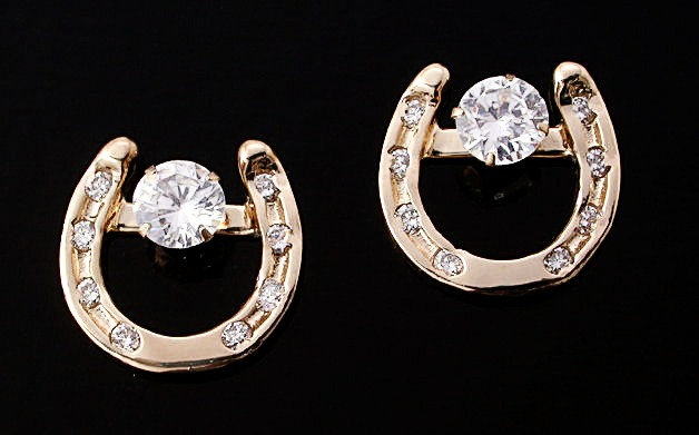 Diamond Horse Shoe Earrings