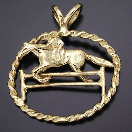 Gold Jumper Pendant