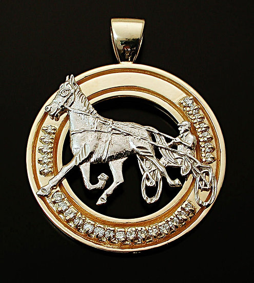 Standardbred White and Yellow Gold Diamond Pendant
