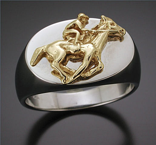 Yellow and White Gold Thoroughbred Ring
