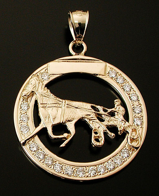 Standardbred Gold Diamond Pendant