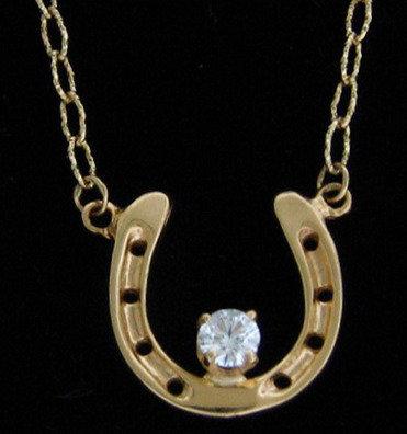 14kt Yellow Gold Horseshoe Necklace