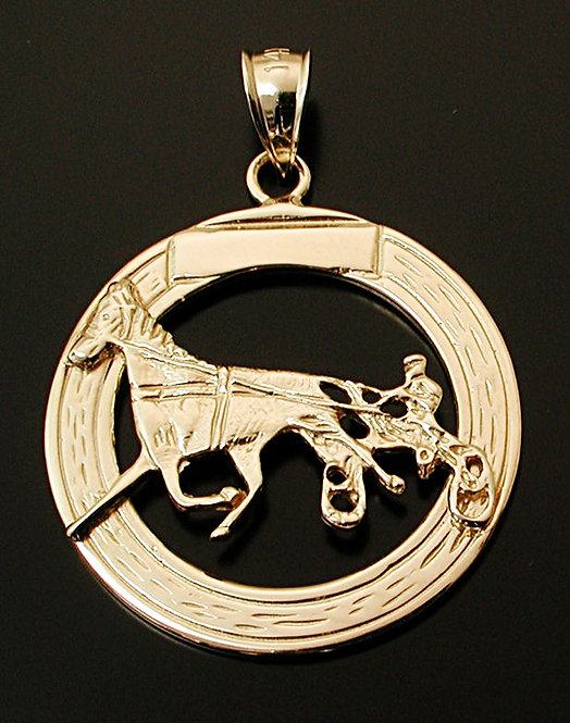 Standardbred Gold Coin Pendant